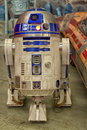 R d star wars robot at the montreal comic con Royalty Free Stock Photos