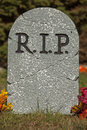R.I.P. Grave Stone Royalty Free Stock Photo