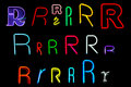 R Neon Letters Royalty Free Stock Photos