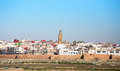 Rabat morocco view over the old town of Royalty Free Stock Photography