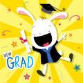 Rabbit Animal Congratulation New Graduate Cute Cartoon Vector