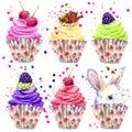 Rabbit, Cake Cream And Berries...