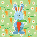 Rabbit with carrot vector illustration Stock Image