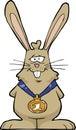 Rabbit champion on a white background illustration Royalty Free Stock Photo