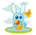 Rabbit creative design of and easter egg Stock Photo