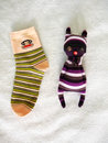 Rabbit doll made socks shows interesting useage sock its very easy could be homemade Royalty Free Stock Photos