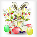Rabbit with easter egg Royalty Free Stock Photography
