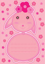 Rabbit Feminine Card_eps Stock Images