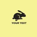 Rabbit Logo Template. Retro Vector