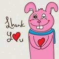 Rabbit Love Teeth Cute Happy T...