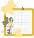 Rabbit school back to illustration Royalty Free Stock Photography