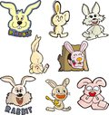 Rabbit set six Royalty Free Stock Images