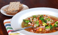 Rabbit soup with barley and vegetables Stock Image