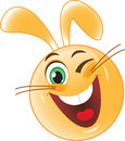 Rabbit winks stock image easter bunny Stock Image