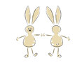 Rabbits vector illustration two funny Stock Image