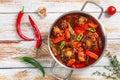 Rabo de toro or oxtail stew Royalty Free Stock Photo