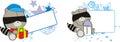 Raccoon cute baby cartoon copyspace in vector format very easy to edit Stock Images