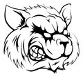 Raccoon mascot character a black and white illustration of a fierce animal or sports Royalty Free Stock Image
