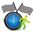 Race Against Time concept Stock Image
