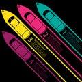 Race Boat infographics