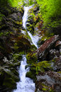 Race brook falls in massachusetts in washington state park Royalty Free Stock Photos