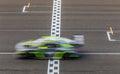 Race car racing Royalty Free Stock Photo