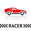 Race car symbol Royalty Free Stock Photography