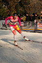 Race in the city, FIS Cross-Country World Cup Stock Photo