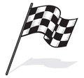Race flag vector illustration of Royalty Free Stock Image