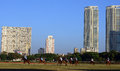 Race ground in mumbai mahalaxmi course is situated central next to the mahalaxmi railway station and facing the arabian sea one of Stock Photo