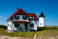 Race point lighthouse can be reached from hiking through soft sand visitors can also stay at the keeper s quarters and surrounding Royalty Free Stock Image