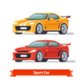 Race sport car supercar tuning flat style vector illustration isolated on white background Stock Photography