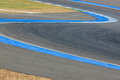 Race track curve road for car / motorcycle racing Royalty Free Stock Photo
