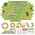 Race track curve road Royalty Free Stock Photo