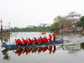 Race the traditional boat hai duong vietnam february farmers at bach hao pagoda festival on february in thanh ha hai duong Royalty Free Stock Photos