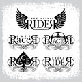 Racer rider labels