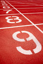Racetrack in red with track number Royalty Free Stock Image