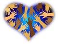 Racial Diversity Heart Royalty Free Stock Photo