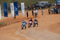 Racing bike in diyathalawa fox hill super cross event in srilanka april Royalty Free Stock Photo