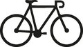 Racing bike icon Royalty Free Stock Photo