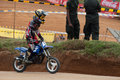 Racing bike kid in diyathalawa fox hill super cross event in srilanka april Royalty Free Stock Photography