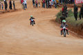 Racing bike kides kids in diyathalawa fox hill super cross event in srilanka april Royalty Free Stock Photos