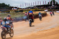 Racing bikes in diyathalawa fox hill super cross event in srilanka april Royalty Free Stock Photos
