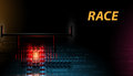 Racing car backlight. F1 spotlight. Abstract dark background Royalty Free Stock Photo