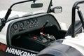 Racing car cockpit Royalty Free Stock Photo