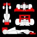 Racing car creative design of aerodynamics Royalty Free Stock Photography