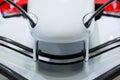 Racing car nose aerodynamics wings Stock Image