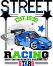 Racing car vector art
