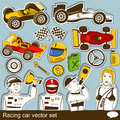 Racing car vector set collection of different Royalty Free Stock Photo