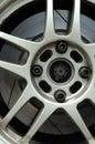 Racing car wheel rim Royalty Free Stock Photo